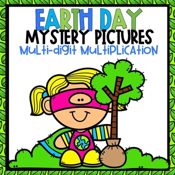 Multi-Digit Color-By-Number Earth Day Themed