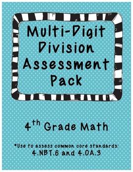 Multi-Digit Division Assessment Pack