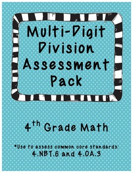 Multi-Digit Division Assessment Pack
