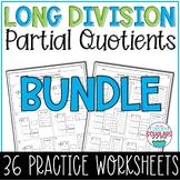 Division Partial Quotients BUNDLE 4th Grade