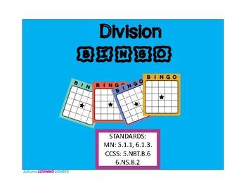 Multi-Digit Division Bingo