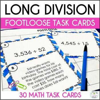 Division Task Cards (Multi-Digit) - Footloose Activity