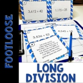 Division Task Cards (Multi-Digit) - Footloose Math Game