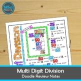 Multi Digit Division Long Division Math Doodle Sheet Color