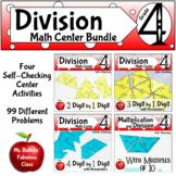 Multi Digit Division Math Center Activity Bundle