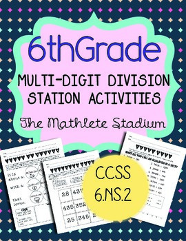 Multi-Digit Division Station Activities: 3 Fun Common Core Aligned Printables!