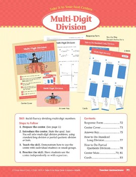 Multi-Digit Division (Take It to Your Seat Centers Common Core Math)