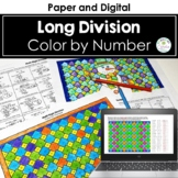 Multi-Digit Division Color by Number, Winter Theme