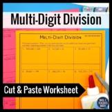Multi-Digit Division Worksheet Activity 6.NS.2