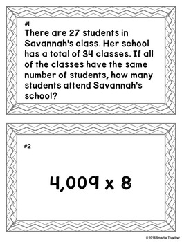 Multiplication of Large Numbers - Math Center
