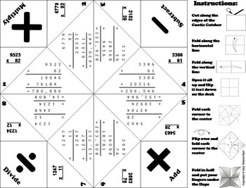 Multi Digit Multiplication Game for 3rd, 4th, 5th, 6th Grade