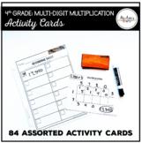 Multi-Digit Multiplication: 4th Grade Activity Cards