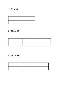 Multi-Digit Multiplication 5.NBT.5 Area Model Strategy