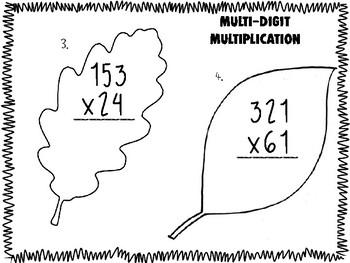 Multi-Digit Multiplication Activity