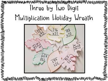 Multi-Digit Multiplication Fall Wreath Activity