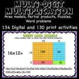 Multi-Digit Multiplication, Area model, Partial products A
