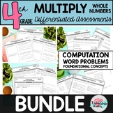 Multiply Multiplication with Whole Numbers Word Problems,