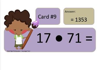 Multiplication Practice (Multi-Digit) Base Ten - Scavenger Hunt