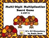 Multi-Digit Multiplication Board Game - Thanksgiving/Turkey Theme