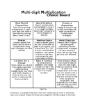 Multi-Digit Multiplication Choice Board