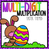 Multi-Digit Multiplication Color-By-Number Easter Themed