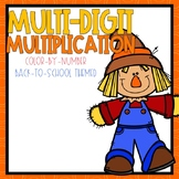 Multi-Digit Multiplication Color-By-Number Fall Themed