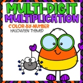 Multi-Digit Multiplication Color-By-Number Halloween Themed