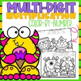 Multi-Digit Multiplication Color-By-Number Summer Themed