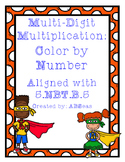 Multi-Digit Multiplication Color by Number
