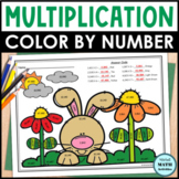 Multi-Digit Multiplication Color by Number - Spring Edition