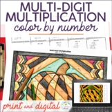 Multi-Digit Multiplication Fall Math Color Distance Learning