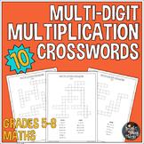 Multi Digit Multiplication Crossword Activities