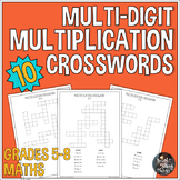 Multi Digit Multiplication Crossword Activities