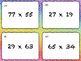 Multi-Digit Multiplication Differentiated Task Cards