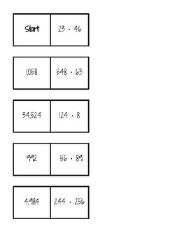 Multi Digit Multiplication Dominoes