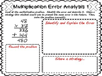 Multi Digit Multiplication Error Analysis By Teaching With