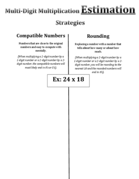 Multi-Digit Multiplication: Estimation with Compatible Numbers Vs. Rounding