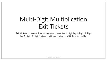 Multi-Digit Multiplication Exit Tickets