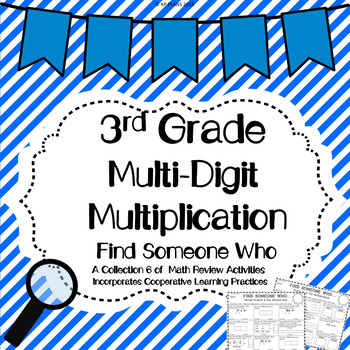 2 Digit by 1 Digit Multiplication Find Someone Who