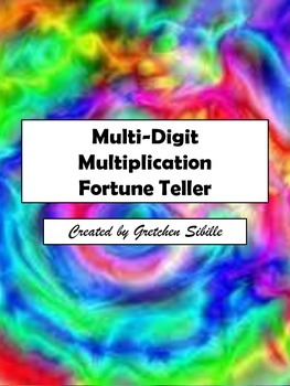 Multi-Digit Multiplication Fortune Teller