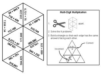 Multi-Digit Multiplication Game: Math Tarsia Puzzle