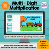 Multi Digit Multiplication Google™ Classroom | Growing BUNDLE 2