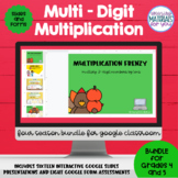 Multi Digit Multiplication Google™ Classroom | Growing BUNDLE 3