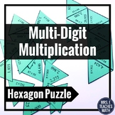 Multi-Digit Multiplication Hexagon Puzzle 4.NBT.5