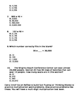 Multi-Digit Multiplication Homework 2