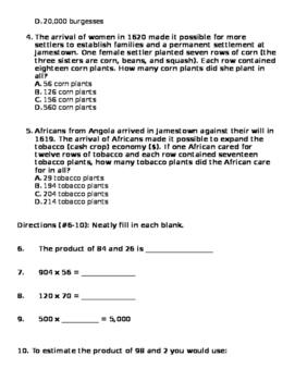 Multi-Digit Multiplication Homework 4