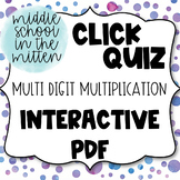 Multi Digit Multiplication Interactive PDF Task Cards