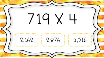 Multi Digit Multiplication Interactive PDF Task Cards
