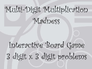 Multi-Digit Multiplication Madness: 3 Digit Times 3 Digit