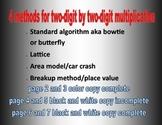 Multi Digit Multiplication Methods Fold-able